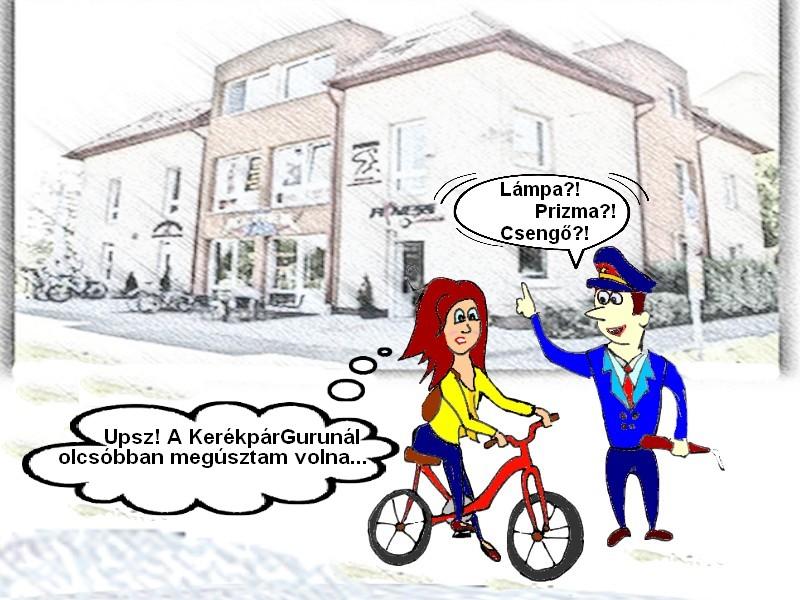 kerékpár kötelező felszerelés büntetés elkerülése